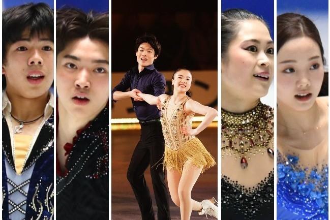 男子は佐藤駿、女子では宮原知子がともに優勝を果たしたほか、本田は2位、木科は3位と健闘。 写真:THE DIGEST写真部
