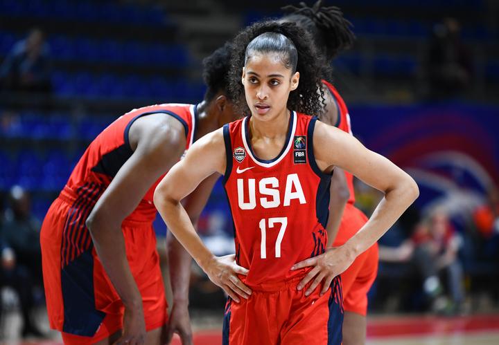 女子アメリカ代表は五輪切符を手にした状態で臨んだ最終予選も3戦全勝。東京五輪でも金メダルの大本命だ。(C)Getty Images