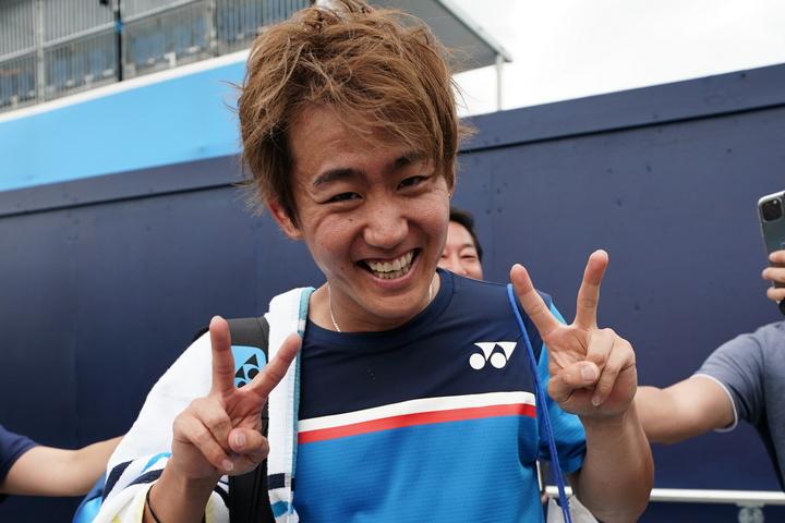 トーナメントに先立ち、「DBOカート」で優勝した西岡(写真は今年の全豪オープン)。写真:山崎賢人(THE DIGEST写真部)