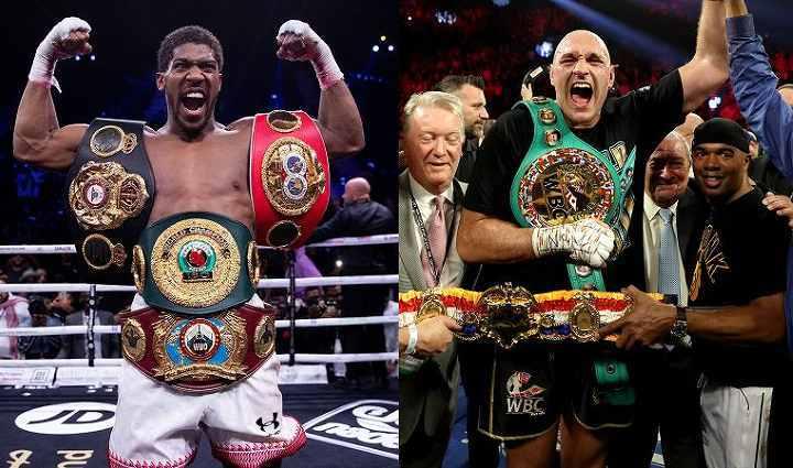 3団体統一王者となっているジョシュア(左)とフューリー(右)の対決が実現すれば、世界的な注目を集めることになりそうだが……。 (C) Getty Images