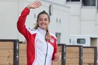 """フランスの女子騎手で最多勝利数を誇るミシェル。いまや日本地方競馬の""""華""""だ。(C)Getty Images"""