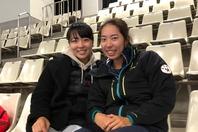 今シーズンからタッグを組む澤柳(左)と米原(右)。写真=内田暁