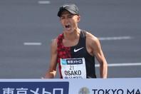日本記録を更新した大迫は、日本人最高の4位。東京五輪代表に大きく前進した。(C)Getty Images