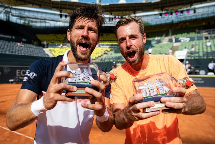 昨年のヨーロピアン・オープンでダブルス優勝を飾ったメルツァー(左)とペアのマラチ(右)。(C)GettyImages