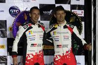 WRCのラリー・メキシコで優勝したオジエ(写真右)(C)Getty Images