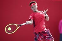 日本男子のトップ選手の一人である江原弘泰は、スイスのテニスアカデミーで腕を磨いた。写真:山崎賢人(THE DIGEST写真部)
