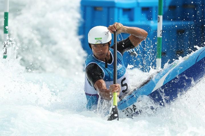 カヌーの羽根田卓也が自宅でできるトレーニングを紹介した。(C)Getty Images