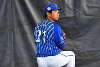 DeNA投手陣のポテンシャルは高い。あとは怪我や不振がなく発揮できれば……。写真:金子拓弥(THE DIGEST写真部)