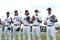 """かつて""""ビリオンダラー・ローテーション""""と呼ばれたメッツの先発投手5人は、いずれもトミー・ジョン手術を経験している。(C)Getty Images"""