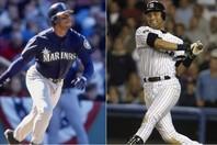 通算630本塁打を放ったグリフィーJr.(左)とヤンキースを5度の世界一に導いたジーター(右)。もちろん、どちらも殿堂入りを果たしている。(C)Getty Images