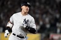 ヤンキースの主砲ジャッジが、コロナによる開幕延期について、自身のインスタグラムを更新。(C)Getty Images