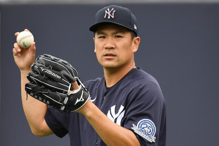 3月下旬に一時帰国していたことをツイッターで報告したヤンキースの田中投手。(C)Getty Images