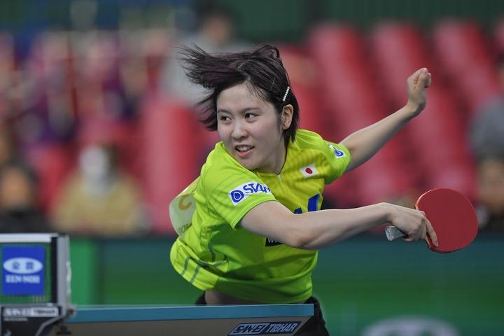 20歳になった平野美宇。攻めの卓球を貫く。(C)Getty Images