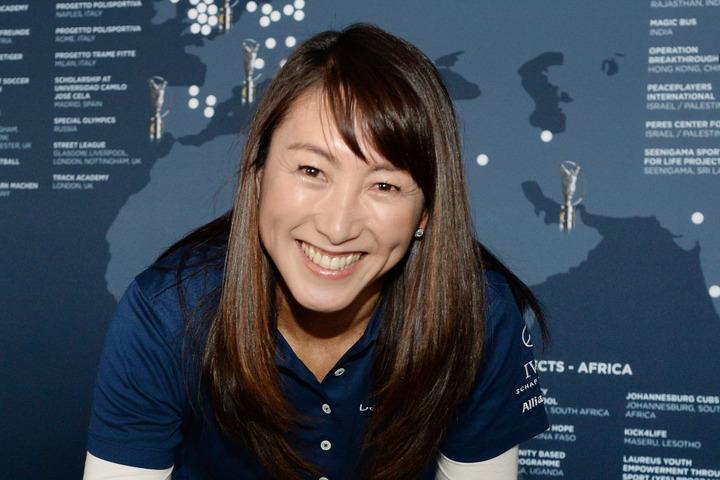『オリンピアン・トレーニングリレー』でどこでも誰でも簡単にできるエクササイズを紹介してくれた杉山愛さん。(C)Getty Images