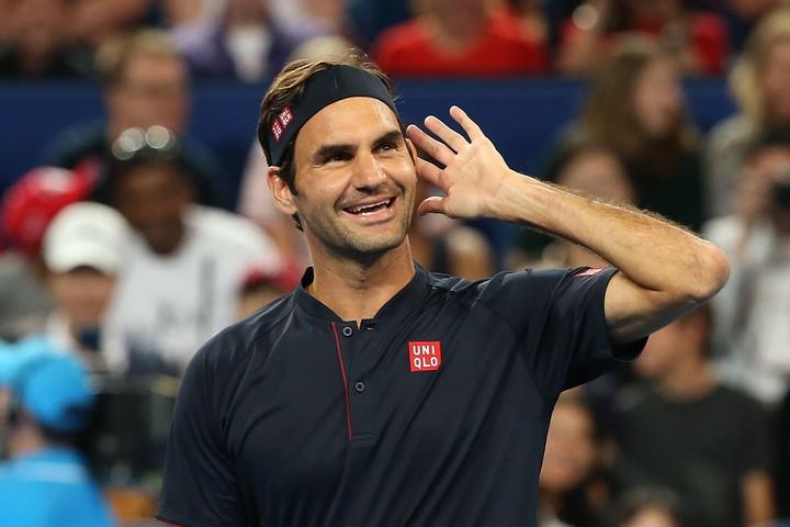 """長きにわたりテニス界のトップに君臨し続けるフェデラーの言葉からは、あふれんばかりの""""テニス愛""""が感じられる。(C)GettyImages"""