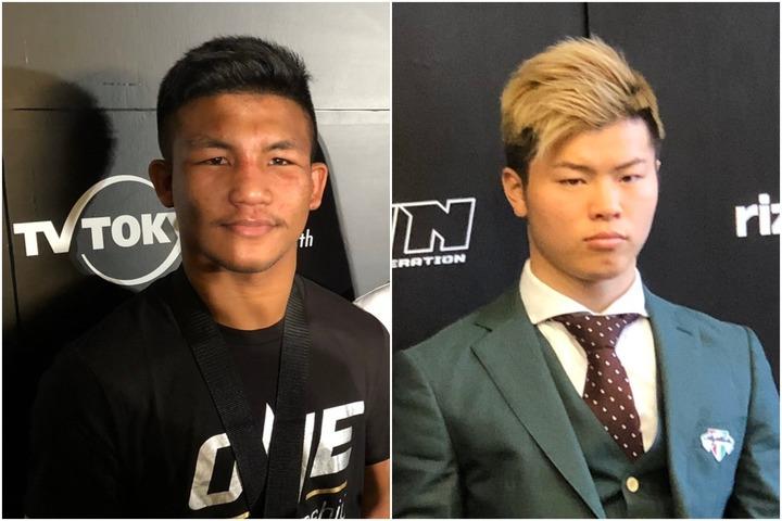 ONE初のランキング発表で、那須川(右)との再戦を熱望するロッタン(左)がフライ級キックボクシングで1位となった。