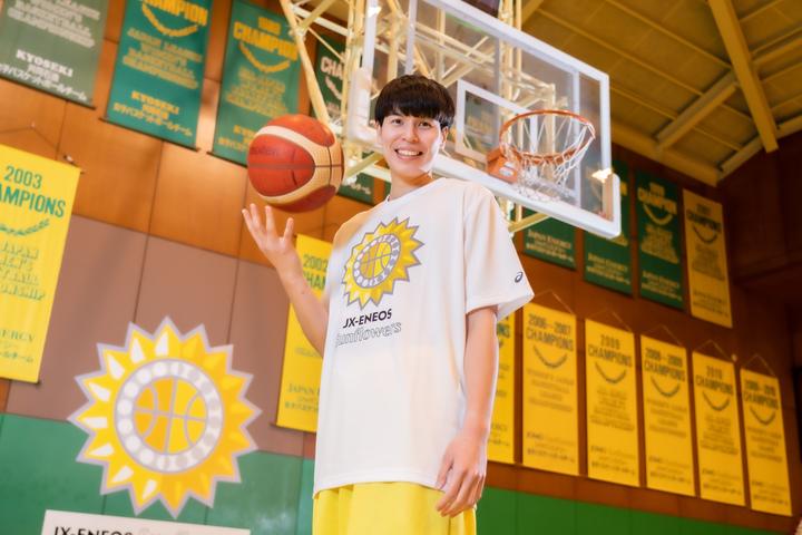 渡嘉敷は中学1年の時にバスケットボールを始め、すぐに夢中になったという。写真:田中研治