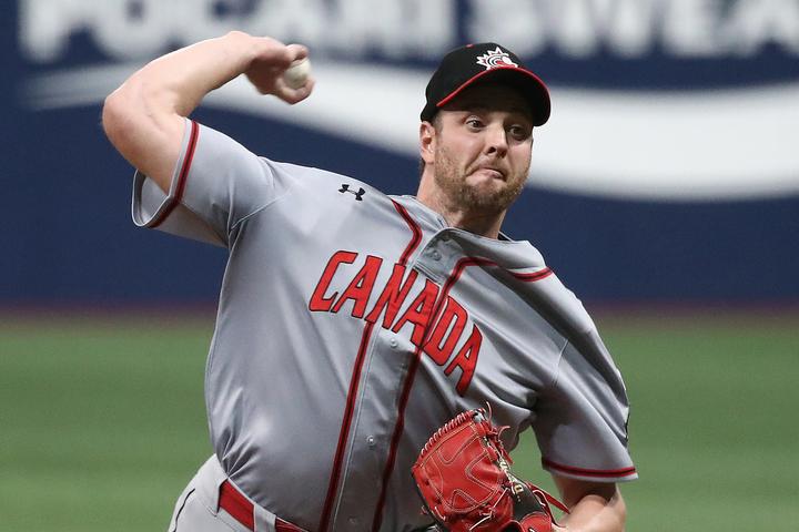昨年のプレミア12にカナダ代表として出場した元巨人のマシソン。日本を愛する彼は、東京五輪を最後に選手生活に幕を下ろす予定だ。(C)Getty Images