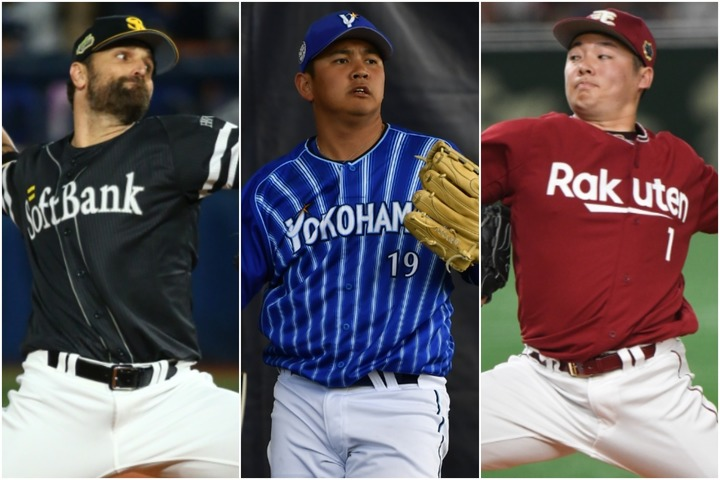 左からサファテ、山崎、松井。2010年代も多くのリリーフ投手が印象的な活躍を見せた。写真:THE DIGEST写真部