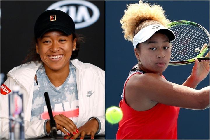 大坂なおみ(左)の似顔絵を描いた姉のまり(右)。彼女も妹と同様にプロテニス選手だが、テニスだけではなく芸術面でも豊かな才能を持つようだ。(C)GettyImages