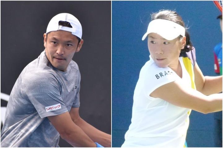 伊藤竜馬(左)日比野菜緒(右)も出場予定の、テニスの非公式大会『BEATCOVID-19オープン』が7月1日~3日に開催されることとなった。現在資金をクラウドファンディングにて募っている。