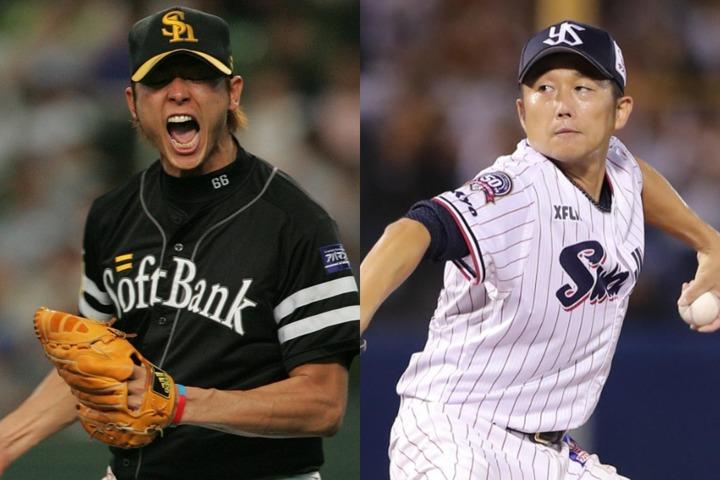 斉藤と石川。あらゆる点で正反対の二人だが、斉藤は息長く活躍する石川にどこか「憧れ」を抱いている。写真:産経新聞社