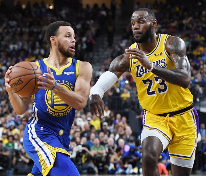 """トップ100に、バスケ界から35人がランクイン。""""キング""""レブロンが全体5位、カリーが6位と続いた。(C)Getty Images"""