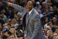 """現在は母校ジョージタウン大でHCを務めるユーイング。コロナ感染という苦難を乗り越え、""""NBAの指揮官就任""""の夢を叶えることができるか。(C)Getty Images"""