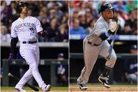 """2人の""""カーゴ""""。ゴンザレス(左)は強打と強肩、ゴメス(右)は攻守にエネルギッシュなプレーが魅力だった。(C)Getty Images"""