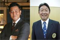 クラウドファンディングを利用した、新しい形の大会開催を提案する山根太郎氏(左)と竹内映二氏(右)。写真:山根太郎、スマッシュ編集部