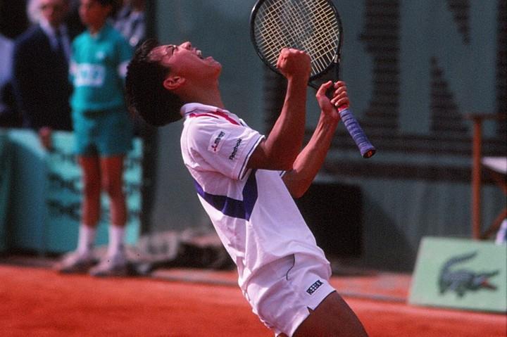 チャンの17歳3カ月でのグランドスラム優勝は現在も最年少記録である。写真:THE DIGEST写真部