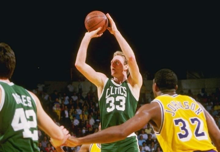 卓越した頭脳と情熱を持ち合わせたバードは、80年代のNBAを牽引。セルティックスに3度の栄冠をもたらした。(C)Getty Images