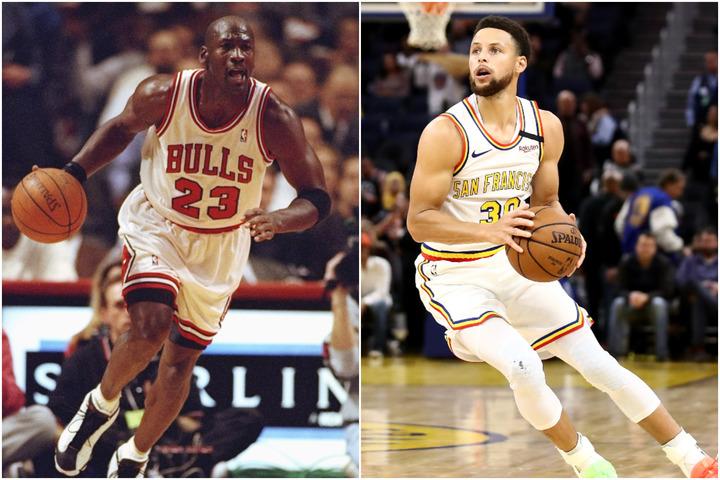 新旧スーパースターのジョーダン(左)とカリー(右)に共通する部分とは?(C)Getty Images