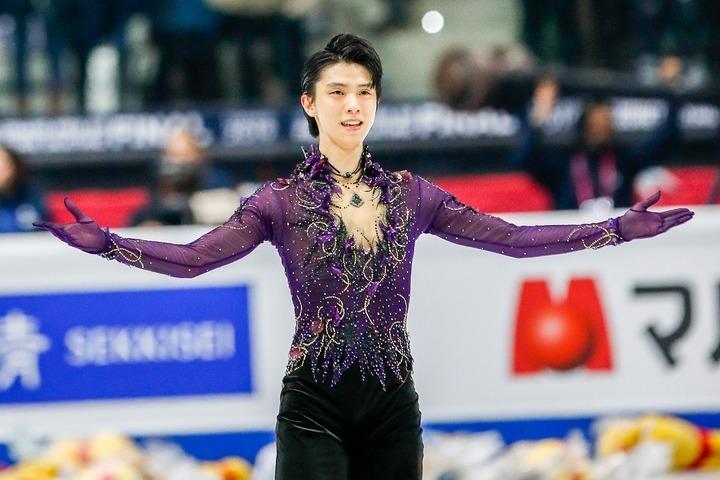 最優秀コスチューム部門の候補に挙がるのがこの衣装。はたして羽生は栄冠を手にできるか!? (C)Getty Images