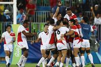 リオ五輪にて4位となった実績を持つ7人制ラグビー日本代表は、来シーズンコアチームとして「セブンズシリーズ2021」を戦うこととなった。(C)Getty Images