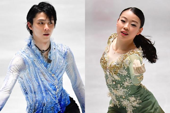 日本スケート連盟が新シーズンの強化選手紹介ページで羽生(左)、紀平(右)らのコメントを公開した。(C)Getty Images
