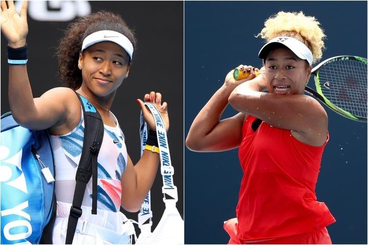 チャリティーマスクという形で、姉のまり(右)とコラボレーションした大坂なおみ(左)。(C)GettyImages