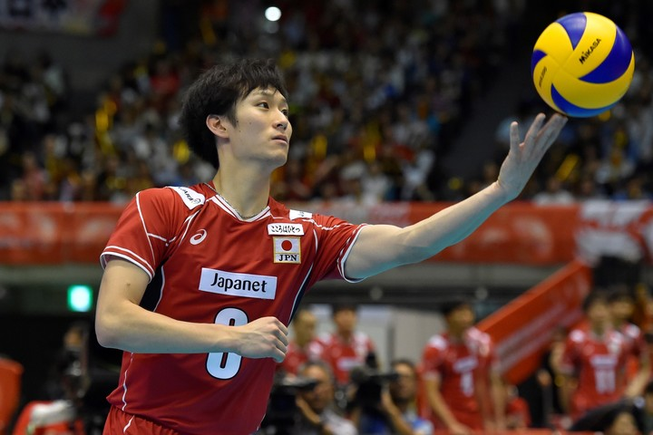 日本代表では主将としてチームを牽引する柳田将洋。(C)Getty Images