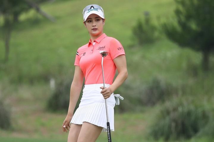 """韓国女子ツアーの""""広報モデル""""を5年連続で務めているパク・キョル。ファンの人気投票で常に上位につける。(C)Getty Images"""