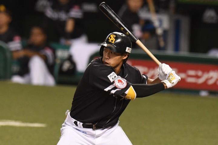 柳田は初回の本塁打について、「しっかり自分のスイングをしようとした」と振り返った。(C)THE DIGEST