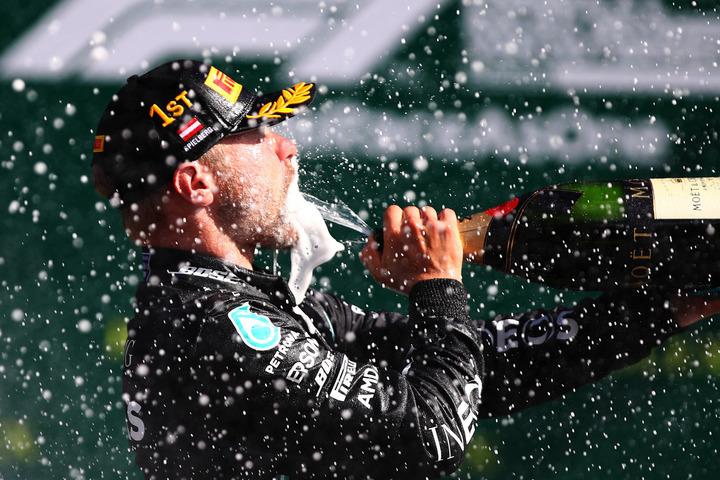 F1開幕戦となるオーストリアGPでメルセデスのボッタスが優勝した。(C)Getty Images