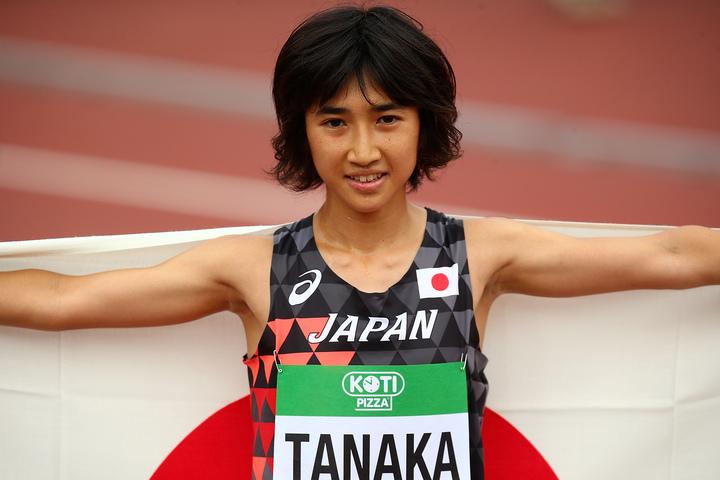 18年ぶりに日本記録を塗り替えた20歳の田中希実。(C)Getty Images