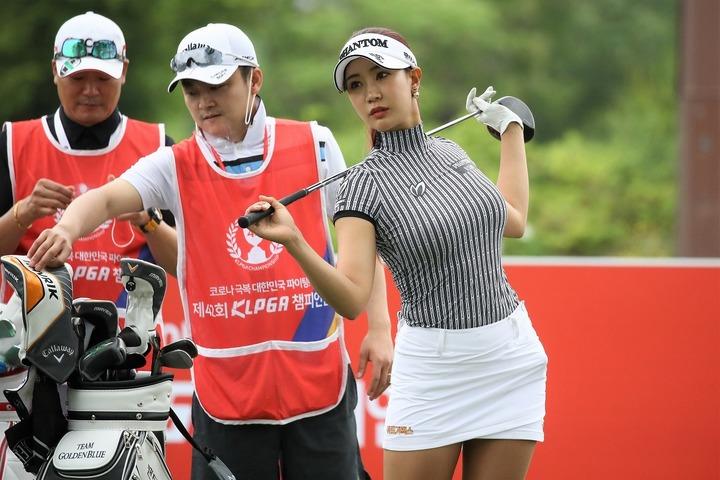 韓国国内で数多のスポンサーを抱えるユ・ヒョンジュ。(C)Getty Images