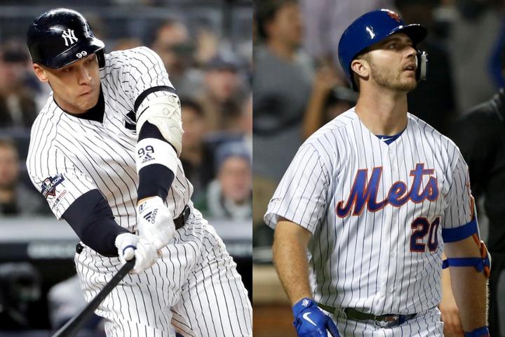 ニューヨークに本拠地を構える2チームで、それぞれ主砲を務めるジャッジ(左)とアロンゾ(右)は、実力はもちろん人柄も素晴らしい。(C)Getty Images