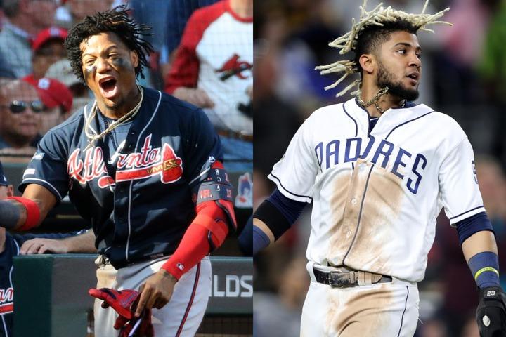 髪型も着こなしも、そしてプレースタイルも自由。アクーニャJr.(左)とタティースJr.(右)はまさに新時代のスターだ。写真:Getty Images