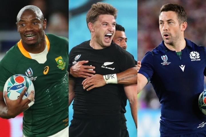 南アフリカ代表のマピンピ(左)、ニュージーランド代表のB・バレット(中央)、元スコットランド代表のレイドロー(右)ら大物のトップリーグ参戦は、日本ラグビーを活性してくれるだろう。(C)eEtty Images