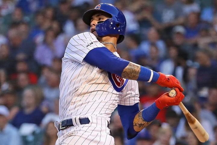 バイエズは豪快なスウィングが持ち味とはいえ、この球を振ってしまうとは…(笑)(C)Getty Images/※写真は2019年のもの