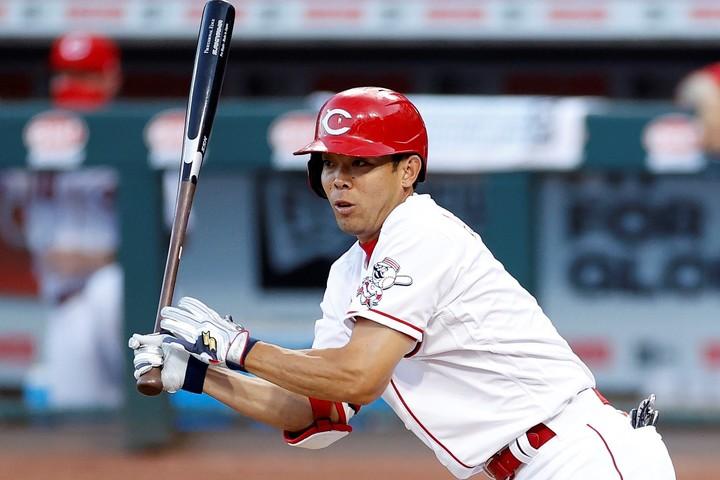 秋山は7回の第5打席、レフト前へ抜けるかと思われたヒット性の打球がまさかのトリプルプレーに。(C)Getty Images
