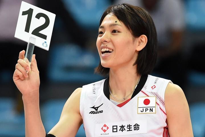 """2大会連続五輪に出場した迫田さんが、可愛らしい""""スカート姿""""を披露した。(C)Getty Images"""