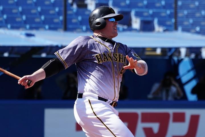 7月は7本の本塁打を放ったボーア。チームの上位進出に、この大砲の活躍は欠かせない。写真:山崎賢人(THE DIGEST写真部)